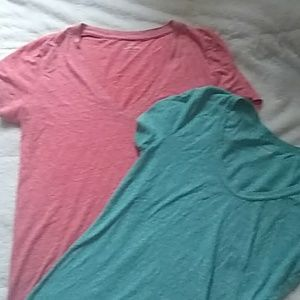 Two J.Crew Speckled Cotton Tshirts
